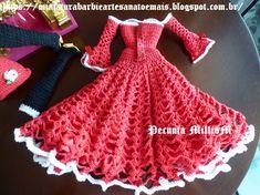 Vestido De Crochê Para o Natal da Barbie por Pecunia MillioM 10