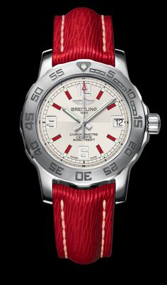 Bright red Breitling! I like it!