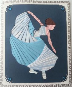 Other – iris folding card, the dancer – a unique product by ...