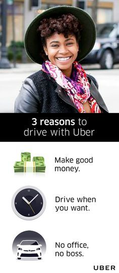 Uber makes it easy to make money simply by driving your own car. When you drive with Uber, you decide when and how long to work so you'll never have to choose between earning a living and living your life. Go to Uber.com and be on your way.