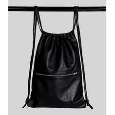 Simple life leather drawstring backpack black by AMETRINEthelabel Leather Drawstring Bags, Drawstring Backpack, Leather Bag, Black Leather, Black Backpack, Backpack Bags, Leather Accessories, Fashion Accessories, Leather Design