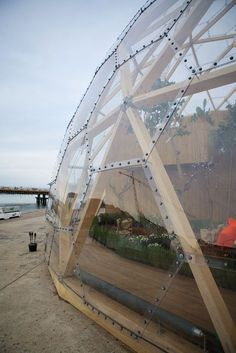Image 2 of 19 from gallery of Dome of Visions / Kristoffer Tejlgaard + Benny Jepsen. Courtesy of Kristoffer Tejlgaard + Benny Jepsen Dome Greenhouse, Greenhouse Plans, Sustainable Architecture, Landscape Architecture, Residential Architecture, Contemporary Architecture, Geodesic Dome Homes, Water From Air, Dome Structure