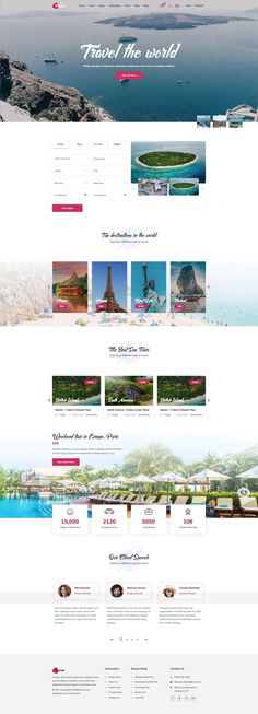 Travel Agency Design Layout Reference from ThemeForest author. Check it out http://static.crazycafe.net/crazycafe/travel/