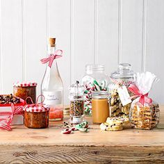 Sweets, biscuits and savoury treats make a special present for any occasion, or make up a whole hamper.