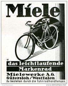 Original-Werbung/Inserat/ Anzeige 1928 - MIELE FAHRRÄDER   - ca. 100 X 140 mm