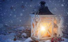 Lámpa, gyertya, havazás, karácsonyi dekoráció