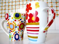 Headline for Funky Kitchen Accessories: Bright and Contemporary Kitchen Accessories Funky Kitchen, Pottery Painting, Painted Pottery, Good Morning Friends, Family Events, Kids Decor, Kitchen Accessories, Royalty Free Images, Mother Day Gifts