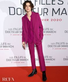Thoughts on Timothee Chalamet's style? Japanese Suit, Fashion Sale, Mens Fashion, Latest Fashion, Fashion Tips, Fashion Trends, Magenta, Wearing Purple, Timmy T