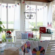 Good morning!  Hope your day is full of sunshine!  #summer #sweetsummertime #porch #diy #porchdecor #summertime #cottagestyle #vintagestyle #summerstyle #makeitpretty #farmhousestyle #itsabeautifulday