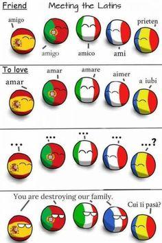 Countryballs: Romania does everything wrong! Countryballs: Romania does everything wrong! Comics Mexico, Learning Tips, Romanian Language, Italian Humor, History Jokes, Country Art, Funny Comics, Tumblr Funny, Funny Jokes