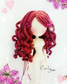 "159 Me gusta, 11 comentarios - #人形玩偶 #編織夢想 (@candy_chan1982) en Instagram: ""創作❤ 半成品 #捲髮控哈哈 #人形玩偶 #編織夢想 #糖果  #2016 #amigurumidoll #amigurumi #crochet #crochetdoll…"""