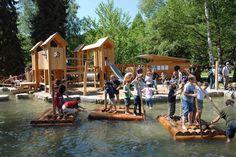Eine Wasserwelt für Kinder auf der Mainau. Solche Ausflüge lieben die Outdoor Kids.  Foto (c) Mainau