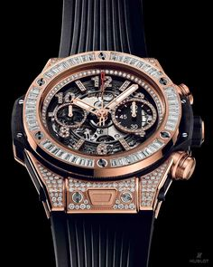 Hublot Shining as bright as #Mayweather does in the ring, the Big Bang Unico King Gold Jewelry wins every round! Ready for #MayweatherMcgregor?