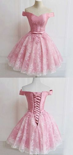 Off the shoulder Homecoming Dresses,Pink Homecoming Dresses,Lace Up Homecoming Dresses,Vintage Homecoming Dresses,Short Homecoming Dresses