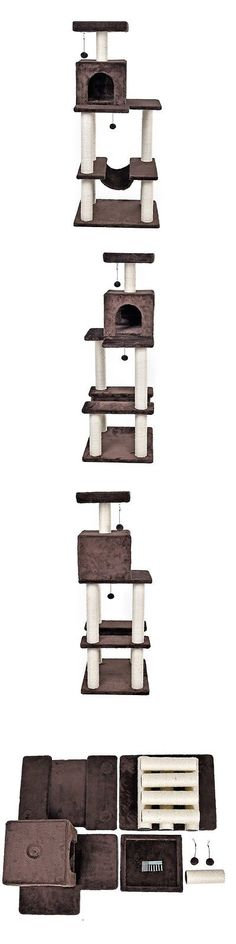 Animals Cats: Pet Dog Cat Climbing Tree Condo Furniture Scratching Pet Toy Kitten Play House -> BUY IT NOW ONLY: $82.49 on eBay!