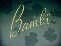 Bambi titles, from The Movie Title Stills Collection.