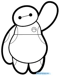 big hero 6 coloring pages baymax - Google Search