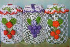 "<meta name=""propeller"" /> Crochet Cup Cozy, Crochet Art, Crochet Home, Crochet Gifts, Crochet Doilies, Crochet Patterns, Handmade Crafts, Diy And Crafts, Crochet Jar Covers"