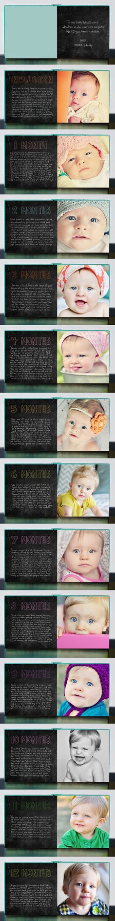Easy baby book instead of worrying about putting together a million pictures