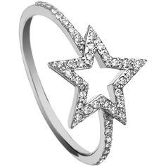 KC Designs Diamond Open Star Ring ($685) ❤ liked on Polyvore featuring jewelry, rings, 14 karat gold ring, diamond jewelry, 14k jewelry, 14k ring and star jewelry