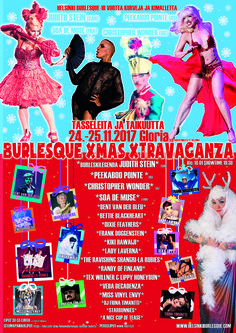 Burlesque Xmas Xtravaganza poster by Bettie Blackheart