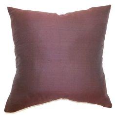 Found it at Wayfair - West Ham Plain Silk Throw Pillow