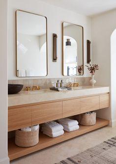 Modern Kitchen Interiors, Interior Modern, Bathroom Interior Design, Country Interior, Natural Modern Bathrooms, Beautiful Bathrooms, Spanish Bathroom, Küchen Design, Design Blog