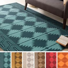 Shop for Hand-Woven Kiedis Southwestern Style Wool Rug (5' x 8'). Get free shipping at Overstock.com - Your Online Home Decor Outlet Store! Get 5% in rewards with Club O! - 17605421