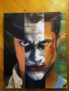 Awesome art! Clockwork Orange,The Dark Knight and Fight Club.