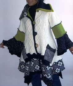 Irish Cable Felted Wool Sweater Coat | Flickr - Photo Sharing!