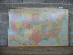 Framed Hardback America Map | Second Use, Seattle: Building Materials, Salvage, & Deconstruction