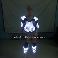 >> Click to Buy << White Color Led Light Up Armor And Kneepad Luminous Robot Suit Costumes Dance Wear For Party DJ Stage Show #Affiliate