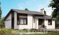 110-003-П Проект одноэтажного дома, скромный домик из газосиликатных блоков