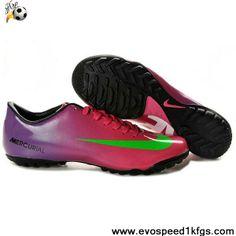 Best Gift Nike Mercurial Vapor IX TF Purple Red Green Soccer Boots Shop