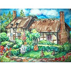 English+Cottage+Bunnies by+GHART