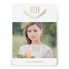 Faux Foil Graduation Custom Photo Party Invitation  #invites #invite #invitation #invitations #custom #template #templates #customize #customizable #personalized #personalize #stylish #design #professional #affordable #contemporary #chic #trend #trendy #white #photo #addphoto
