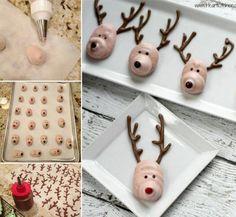 Meringue Reindeer Cookies