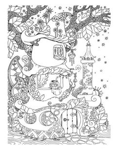 Nice Little Town 4 (Adult Coloring Book, Coloring pages PDF, Coloring Pages Printable, For Stress Relieving, For Relaxation) Cute Coloring Pages, Adult Coloring Book Pages, Printable Adult Coloring Pages, Coloring Books, Coloring Pages For Grown Ups, Coloring Sheets, Free Adult Coloring, Coloring For Kids, Colorful Drawings