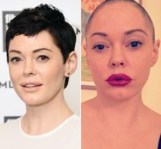 Rose McGowan Just Shaved Her Entire Head from InStyle.com