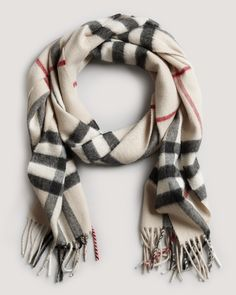 Burberry Giant Check Cashmere Scarf | Bloomingdales