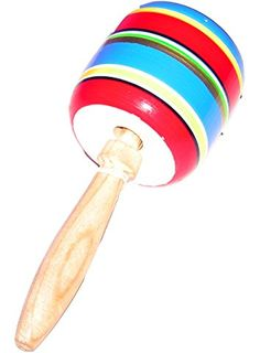 Multi-Color Wood Balero Mexican Traditional Toy Handmade New