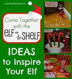 Tons of Ideas for the Elf on the Shelf  @Tanja Hodge I think your kiddos would get a kick out of this!!