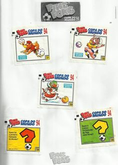 08- Chicle Ping Pong Copa do Mundo 1994
