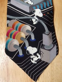 Snoopy Peanuts Tie Electronical type Tie Great Shape #Snoopy