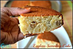 Eggless Semolina Cake Recipe | Subbus Kitchen