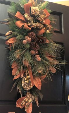 Coffee Color + Orange Spring Decorative Seasonal Front Door Wreath Best Seller and Summer 13 inches Winter HanSogYupk dcrafted Wreath for Outdoor Display in Fall