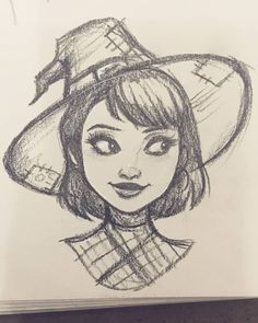 Learn To Draw Manga - Art Sketches Girl Drawing Sketches, Art Drawings Sketches Simple, Pencil Art Drawings, Cool Drawings, Drawing Art, Tumblr Sketches, Witch Drawing, Face Drawings, Girl Sketch