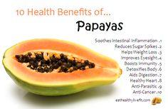 Papaya has natural benefits like helping digestion, improves eye sight and much more. Eat papaya to get more health benefits. Matcha Benefits, Coconut Health Benefits, Fruit Benefits, Papaya Benefits, Vegetable Benefits, Healthy Smoothie, Healthy Protein, Stay Healthy, Eating Healthy