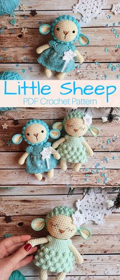 Adorable Little Sheep amigurumi. The perfect new little best friend for your baby or to give as a babyshower gift. #sheep #ad #amigurumi #pattern #crochet