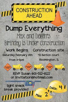Boys Birthday Invitation by 3dkdesign on Etsy